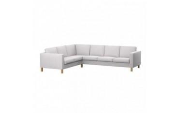 KARLANDA housse de canapé d'angle 2+3 places